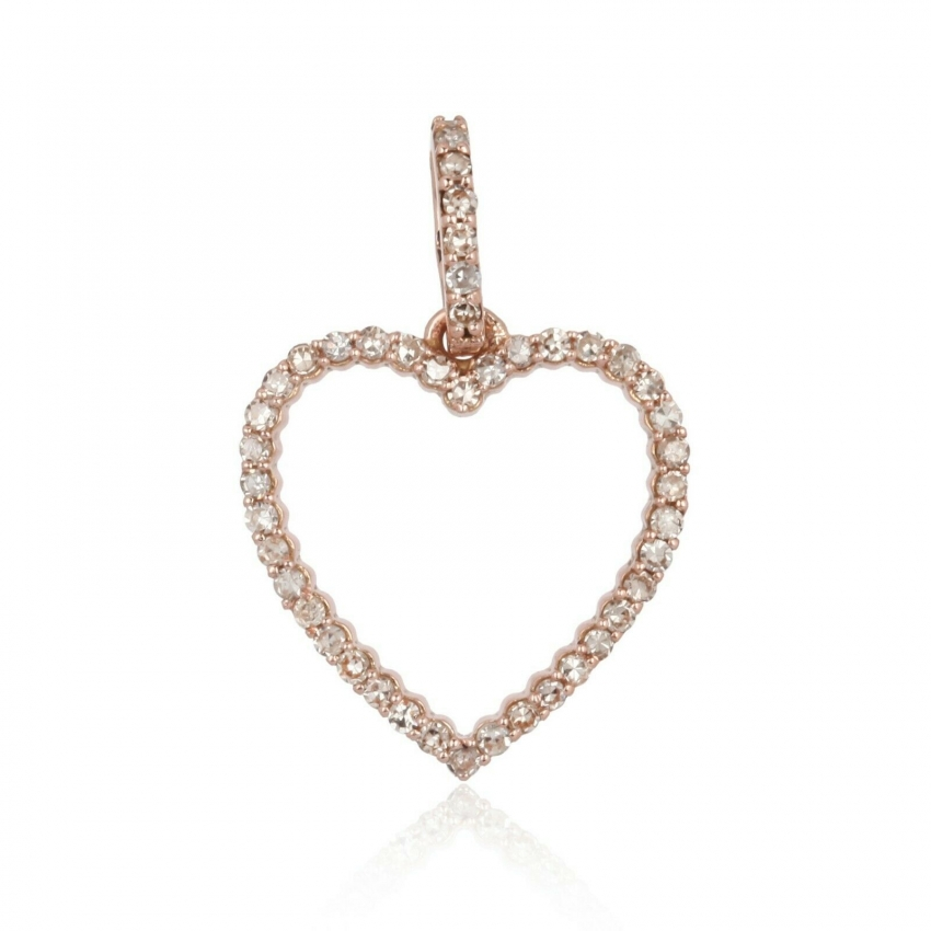 New Arrivals!! 0.41Cts Pave Diamond Pendant 925 Sterling Silver Fashion Jewelry