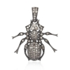 Diamond Insects Charm 925 Silver Pendant Unisex Halloween Jewelry