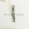 925 Sterling Silver - Pave Diamond Happy Alphabetic Charm Pendant - Pave Diamond Jewelry - Pave Diamond