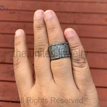 Pave Diamond Cigar Bands - Pave Diamond Jewelry - Pave Diamond Ring - Diamond Ring