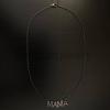 925 Sterling Silver - Pave Diamond Mom Mama Pendant Necklace - Pave Diamond Jewelry - Pave Diamond Chain Necklace