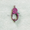 Ruby Oxidized Sterling Silver Lobster Clasp