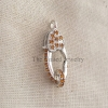925 Sterling Silver Citrine Lobster Clasp Lock Jewelry