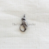 Diamond Sterling Silver Parrot shape Lobster Clasp Lock Jewelry