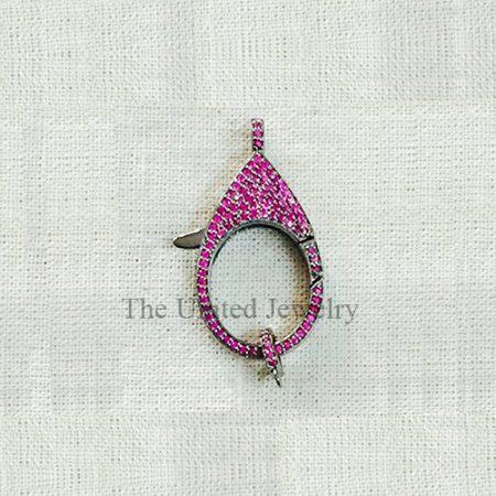 Ruby Silver clasp lock