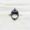 Sapphire,Diamond & Oxidized Sterling Silver Lobster Lock