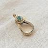 Pave Diamond & Emerald 925 Sterling Silver Clasp Lock Jewelry