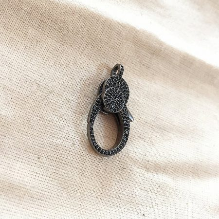 Spinel Oxidised Sterling Silver Lobster Clasp Lock Jewelry