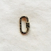 Oxidized 925 Sterling Silver Enameled Carabiner Clasp Lock Jewelry
