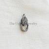 Diamond & Oxidized Sterling Silver Lobster Lock
