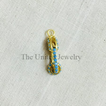 Turquoise Sterling Silver Lobster Clasp Lock Jewelry