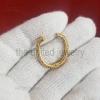 14k Yellow Gold Plating Pave Diamond Round Push Lock, Jewelry Connector Round Lock, Ball Enhancer Lock, 925 Silver Enhancer