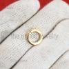 14k Gold Vermeil Oval Charm Holder, Wholesale Charm Holder, Solid 925 Silver Charm Holder, Connector Charm Holder, Enhancer Charm Holder