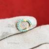 14k Gold Vermeil Turquoise Round Enhancer Lock, Turquoise Lock Enhancer, 12mm Round Charm Holder, Gold Clicker Ring Lock, Enhancer link lock