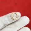 Pave Diamond Round Snap Lock, 925 Silver Diamond Snap Clasp Lock, Findings Connector Snap Lock, Wholesale Diamond Silver Snap Lock Jewelry