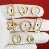 14K Gold Wholesale Link Lock, 14K Gold Enhancer, 14K Gold Push Link Lock Jewelry, 14K Charms Holder, 14K Clasp Lock, 14K Turquoise Ball Lock