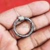 silver carabiner lock jewelry