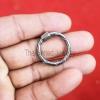 silver round lock