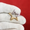 Two Tone Plating Star Shape Charms Holder, Silver Charms Holder Lock, 925 Silver Push Lock, Silver Enhancer Jewelry, Charm Holder Pendant