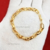 Yellow Gold Plating Sterling Silver Link Round Kadi Chain Bracelet Jewelry, Silver Rolo/Belcher Chain Bracelet Jewelry