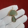 magic mushroom gemstone pendant